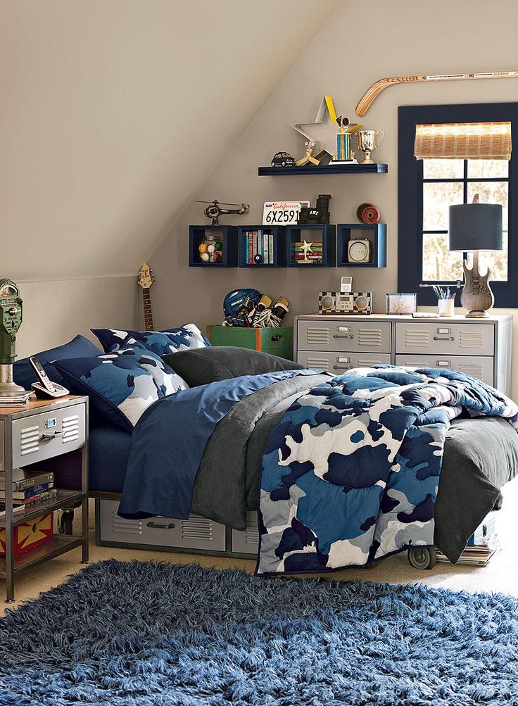 khaki gray kids' bedroom - thunder AF-685 (walls), hale navy HC-154 (trim),  simply white OC-117 (accent)