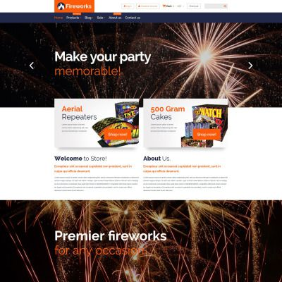 Fireworks Store Parallax Shopify Template