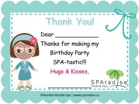 Thank You Letters From Spa
