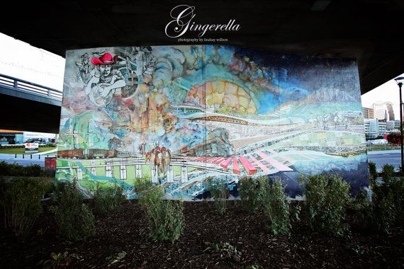 Murale in East Village, Calgary, Alberta, Street Art
