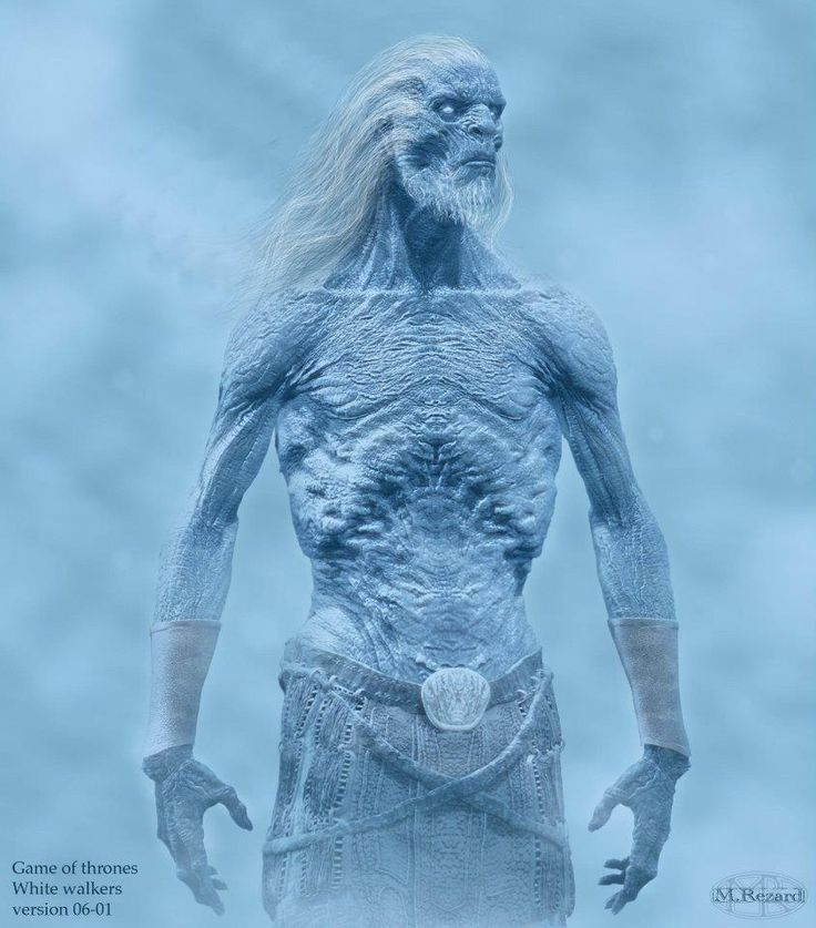 In the second season finale of Game of Thrones, we came face to icy face with the fearsome White Walkers that live beyond the Wall. These concept designs by artist Martin Rezard offer a better look at chilly creatures who are ready to earn our fear.