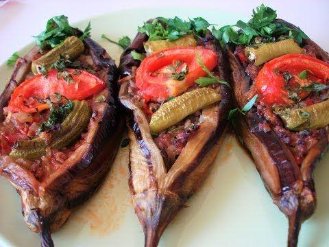 Stuffed eggplant in Turkish in the oven - Karnyaryk. Recipe from the Turkish grandmother. Karnıyarık - YouTube