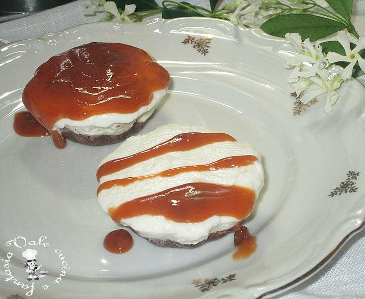 Mini cheesecake al dulce de leche,dolcissime e golose