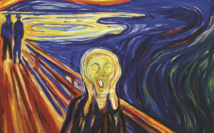 Famous Line Art Paintings : Summary of artwork this painting is called the scream it