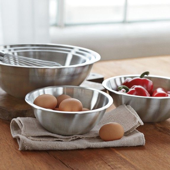Palm Restaurant Cookware Stainless Steel Mixing Bowls