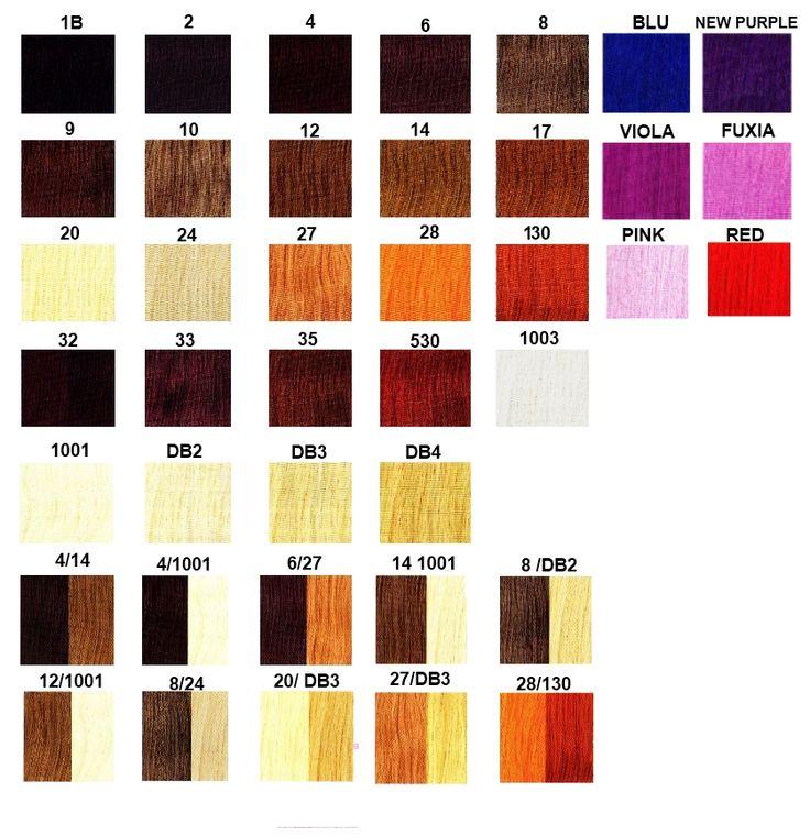 La vasta gamma di colori utilizzati da #viemmehairextension www.viemmehairextension.com