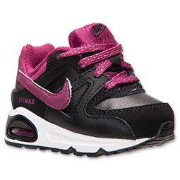 Girls' Toddler Nike Air Max Command Running Shoes| FinishLine.com | Black/Raspberry Red/White baby girls :))