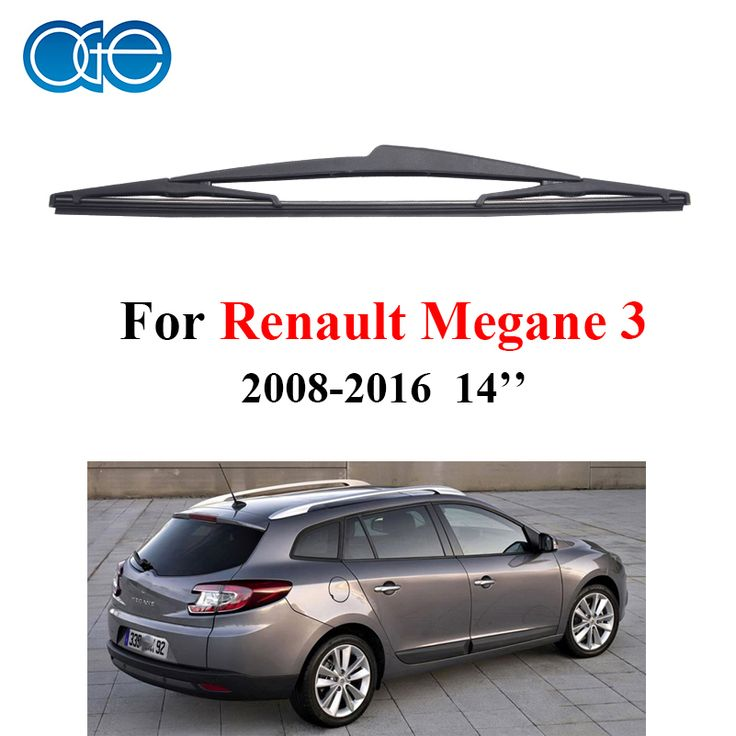 14'' Rear Wiper Blades For Renault Megane 3 Wagon 2008-2016 Windscreen Windshield Silicone Rubber Car Accessories Wipers #Affiliate