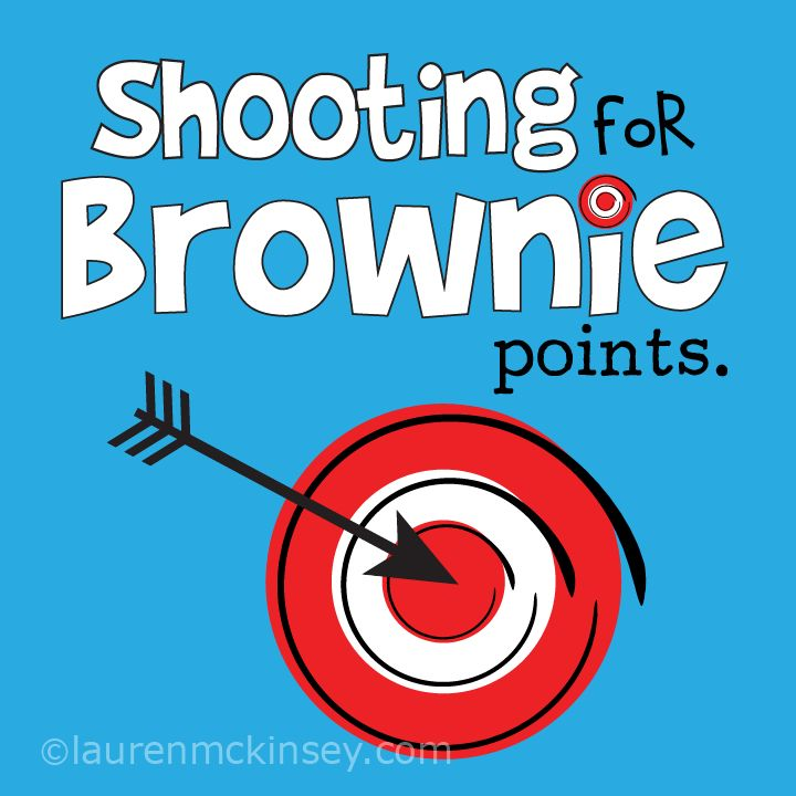 Printable Shooting for Brownie Points-cute and versatile for teacher appreciation, class valentine treats, multiple tags and labels of this for small fee at this link.