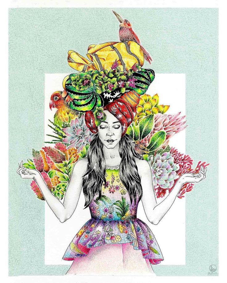 Parte de un todo... // #illustration #coloring #prismacolor #drawing #girlillustration #nature #animals #flowers #sketch #ilustracion #dibujo #pintura #coloreando #colores #colors #rapidograph #rapidografo