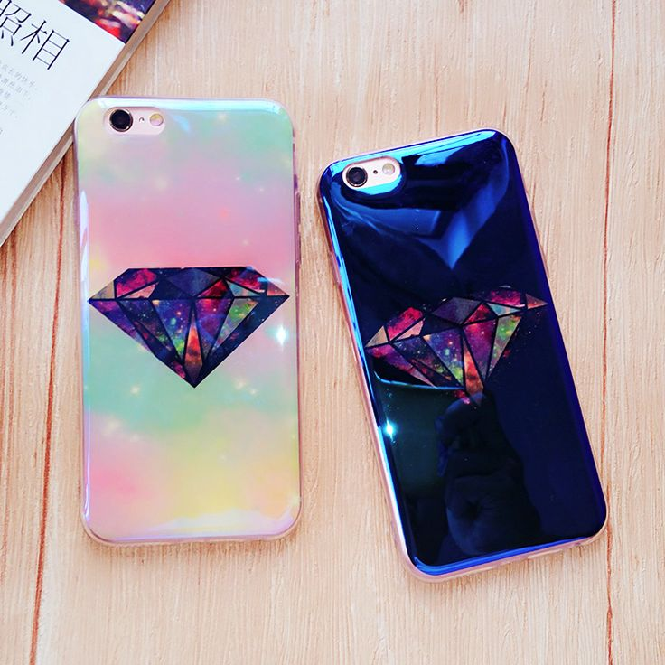 >> Click to Buy << For iphone 7 Case Blue Ray 3D Diamond Mirror Case Cover for iphone7 Plus 6 6s plus 6plus Phone Cases Fashion Cool Free Shipping #Affiliate