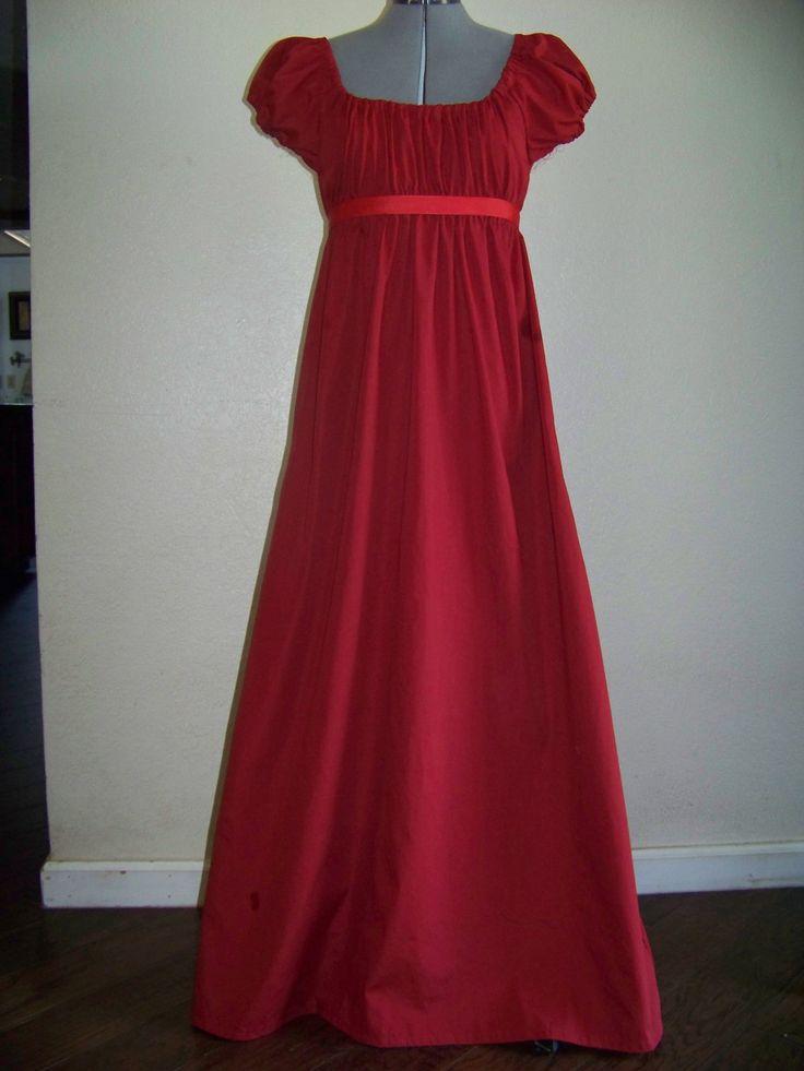 Jane Austen Regency Style Costume Dress Size 6 8 Women