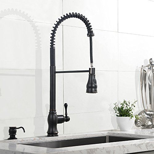 oil rubbed bronze kitchen faucet pull out sprayer kitchen faucets - Commercial Kitchen Faucets