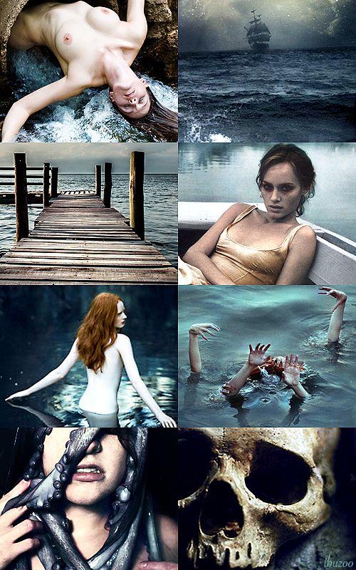 Dark Fairytale принцесс - Ариэль, Русалочка Она отмечает свои жертвы с солеными поцелуями, губы дегустации воды и красоты, обман, чтобы скрыть жажду человеческой крови и костей.  Море сгибает ее воле и приливы и волны будут усыплять ее ...
