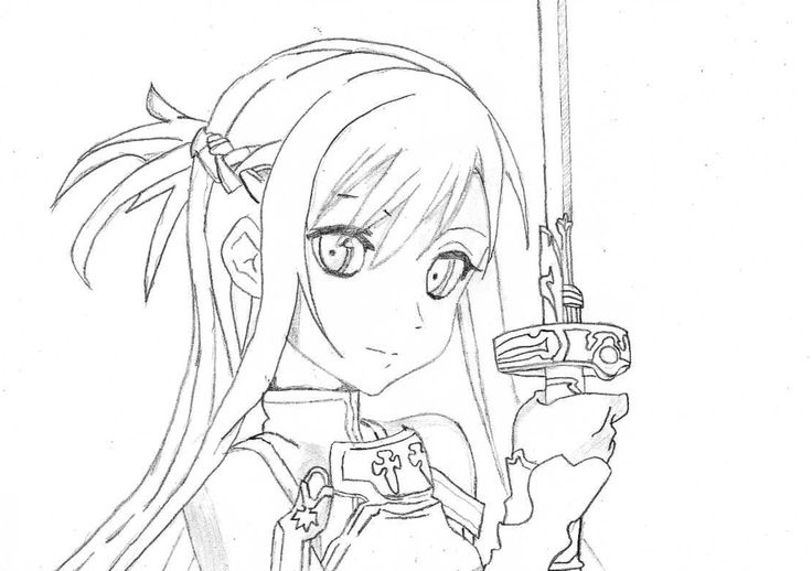 Sao Para Colorear: 274 Best Images About LineArt: Sword Art Online On