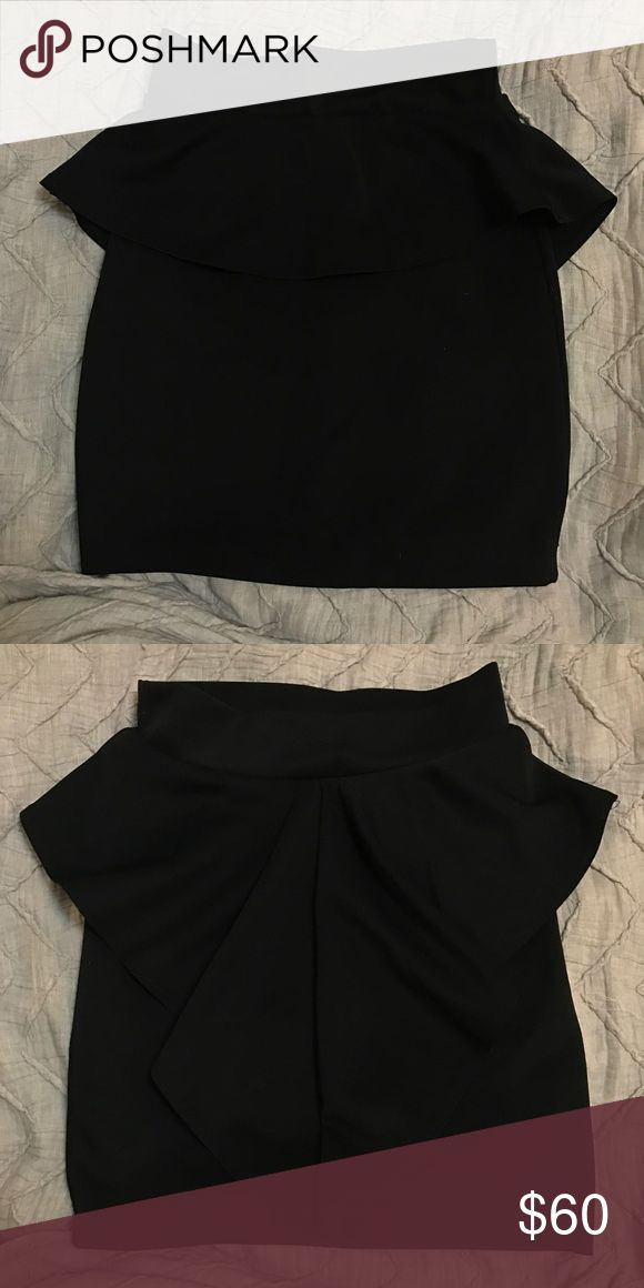 """Lovely Day"" from Nasty Gal Black Peplum Skirt Black peplum skirt from Lovely Day from Nasty Gal. Super cute! Never worn, material is stretchy. Make an offer 💕 Nasty Gal Skirts"