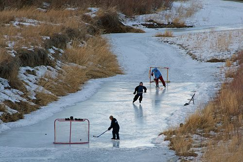 You can't be stressed out looking at this picture.: Ponds Hockey, Hockey Stuff, Sports, Awesome Hockey, Pictures, Rap, Random Stuff, Ice Hockey, Rivers Hockey
