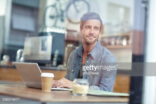 Stock Photo : Relaxing with a fresh cup of coffee