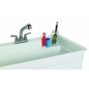BigTub Utilatub Combo 40 in. x 24 in. Polypropylene Single Floor Mount with Pull-Out Faucet, P-Trap and Supply Lines in White 28CF at The Home Depot - Mobile