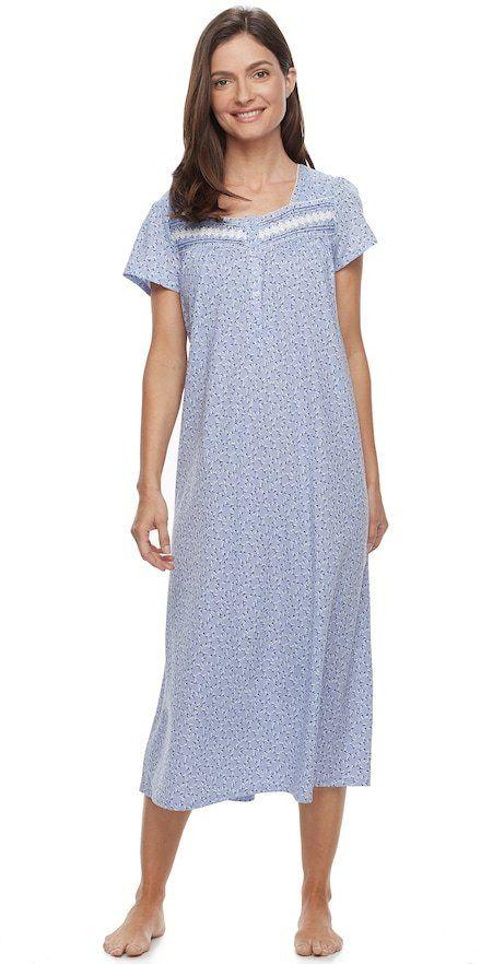 Croft & Barrow Petite Pajamas: Short Sleeve Pintuck Nightgown