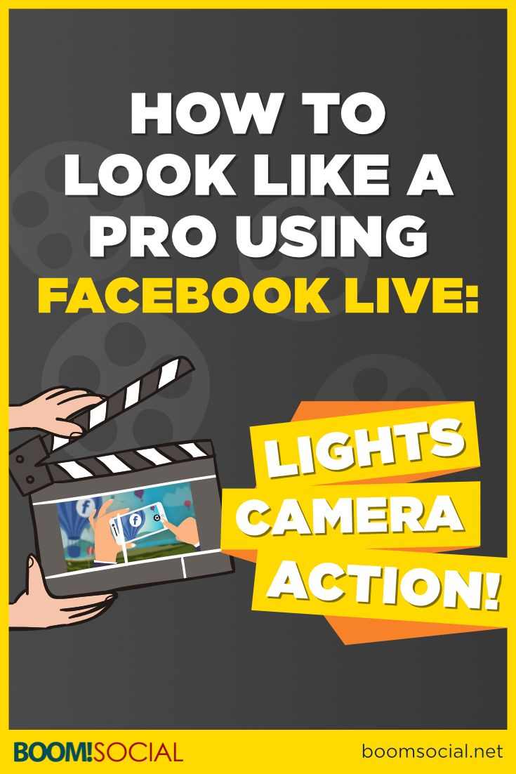 How to Look Like a Pro Using Facebook Live: Lights, Camera, Action via @kimgarst