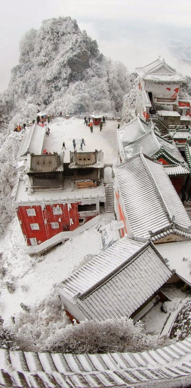 Building complex at Wudang Mountains, China.