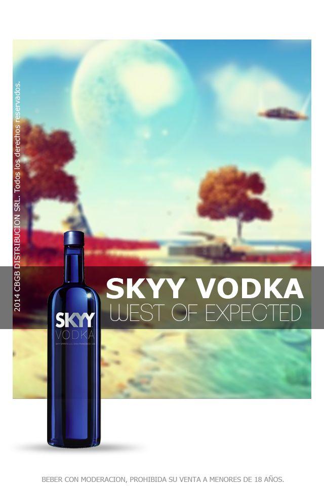 Skyy Vodka se obtiene mediante un sistema de destilación a 4 columnas y con 3 etapas de filtración. Cautiva desde su impactante packaging: una distinguida botella de vidrio azul, combinada con elegantes detalles en color plata. En boca es levemente astringente, cálido, de textura suave, con un leve amargor. Es un vodka muy amable, dócil, fácil de beber, recomendado para elaborar cócteles en donde el spirit deba aportar la base alcohólica sin modificar las características de sabor.