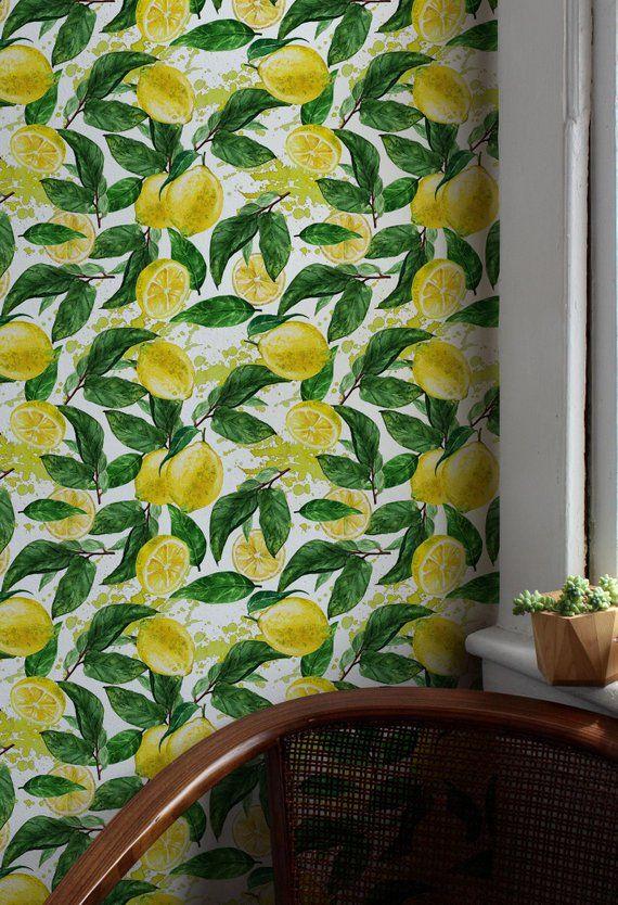 Fond D Ecran Citron Aquarelle Jaune Vibrant Wall Mural Self
