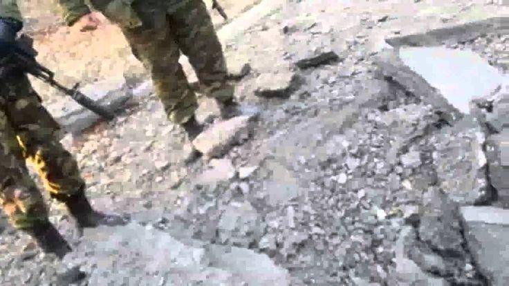 Ukraine War ~  Militants base near the abandoned factory was shelled