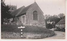 Letcombe Regis Church. B&W RP postcard in Fair Condition. Unused