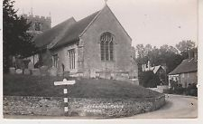 Letcombe Regis Church. B&W RP postcard in Fair Condition. Unused