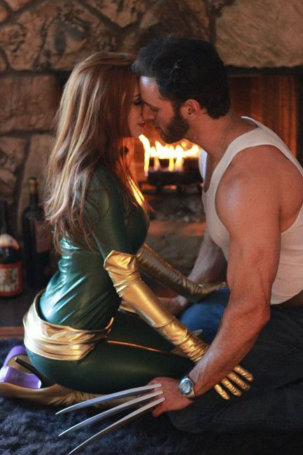 An Epic Wolverine and Jean Grey Cosplay Duo
