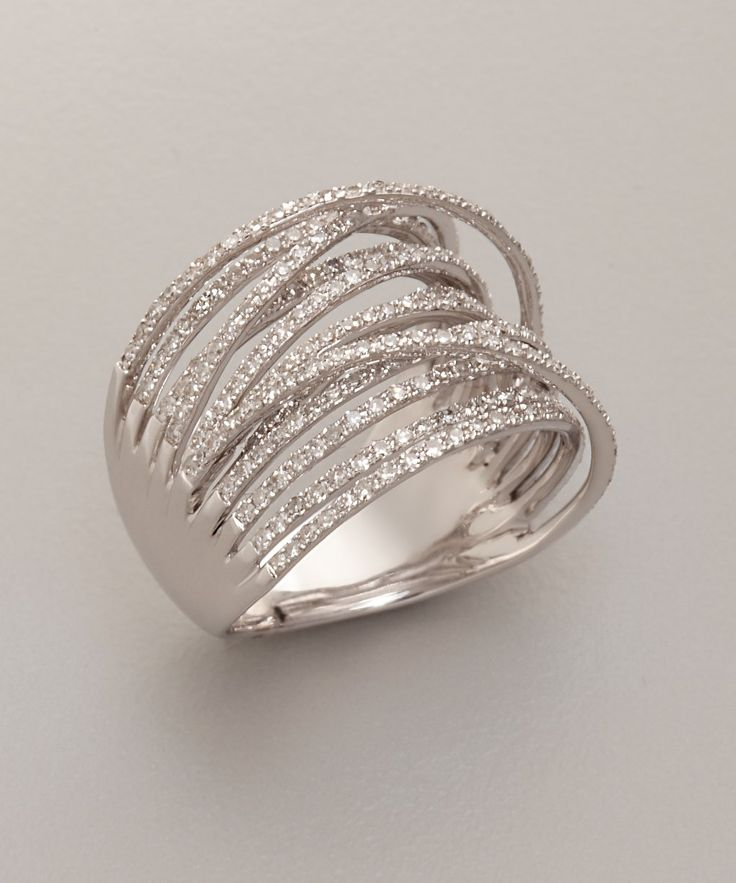Diamond And White Gold 'Martha Graham' Ring… Mr. Right sure knows my right hand might get jealous and want some company.