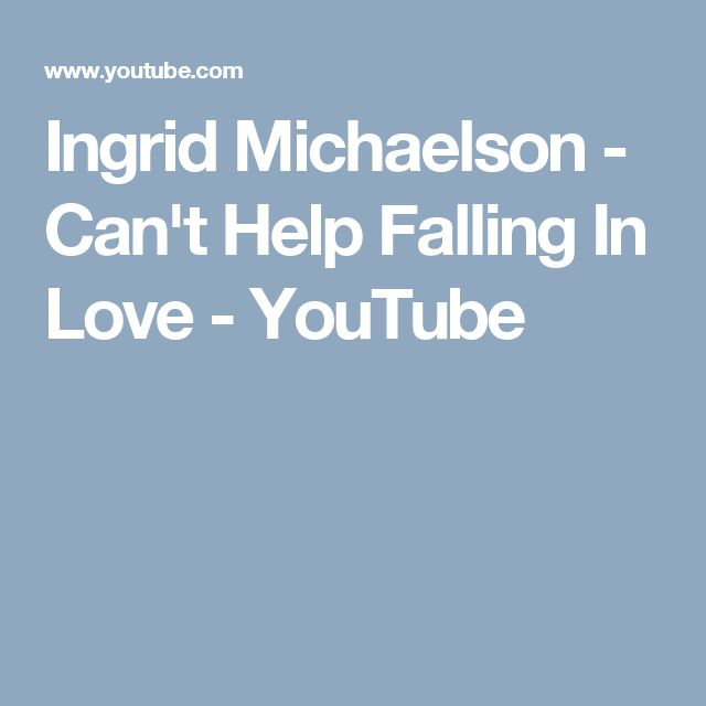 ingrid michaelson can t help falling in love Ingrid michaelson i can't help falling in love ukulele chords on ukulelecheatscom - chods, tabs, transpose by voice range, video tutorials.
