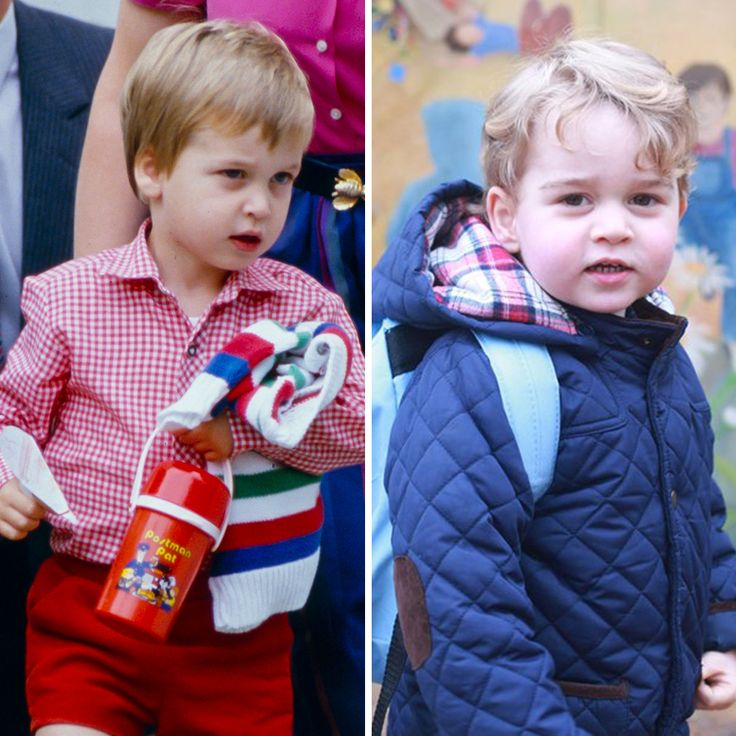 Prince George started nursery school today, and we had to look back at his dad's first day in 1985.