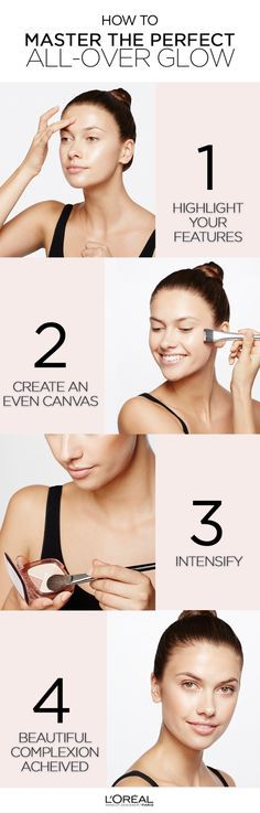 Step by step on how to highlight, define and enhance facial features with True Match Lumi Glow Illuminator.