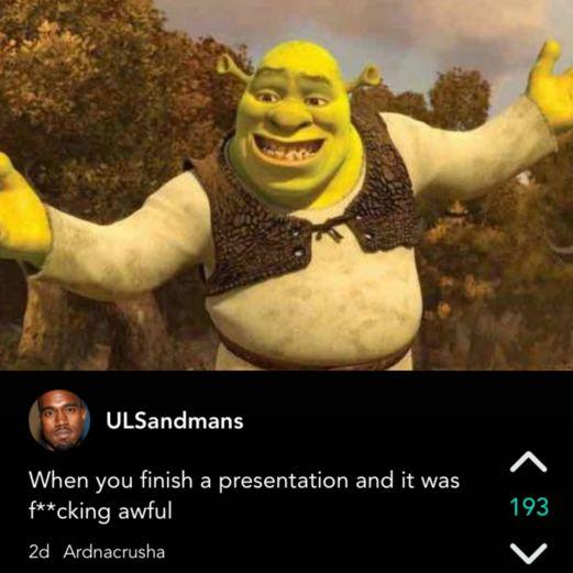 "This sinking feeling. | Literally Just 27 Hilarious Jokes About ""Shrek"""