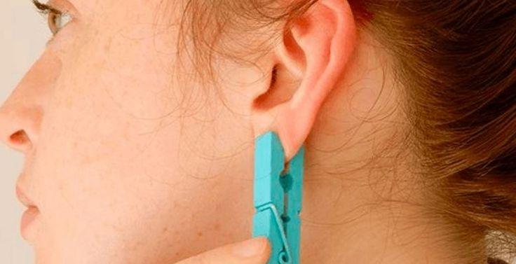 Elle place une pince à linge sur le lobe de son oreille, ce qui se produit est vraiment dingue! - Trucs et Astuces - Ayoye