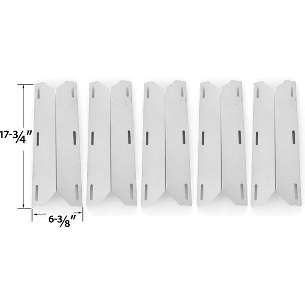 5 PACK REPLACEMENT STAINLESS STEEL HEAT SHIELD FOR JENN-AIR 720-0141-LP, NEXGRILL, GLEN CANYON GAS MODELS Fits Compatible Jenn-Air Models : 420-0032, 720-0061, 720-0061-LP, 720-0062, 720-0062-LP, 720-0063, 720-0063-LP, 720-0077, 720-0077-LP, 720-0094, 720-0099, 720-0099-NG, 720-0100-NG Read More @http://www.grillpartszone.com/shopexd.asp?id=33734&sid=23770