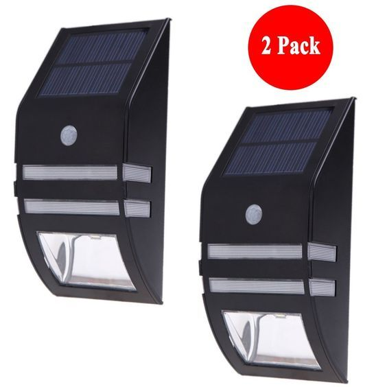 Solar Light, Nekteck Wireless Bright Solar Powered Motion Sensor Light, Street Light, Outdoor Light Security Light, For Patio Deck Yard Garden Home Driveway Stairs Outside Wall Pathway (2 Pack, Black) -- You can get more details here : home diy lighting