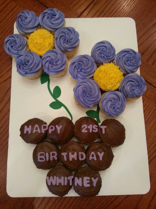 21St Birthday Cupcake Cake