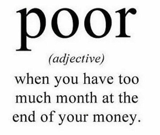 The definition of poor