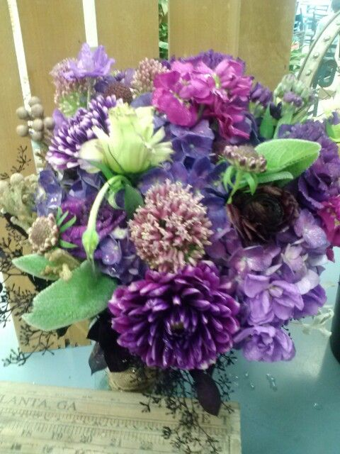 All Purple Bouquet With Wild Flower Feel By Superior Hy Vee