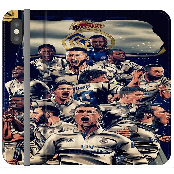 Realmadrid Art Iphone Xs Flip Case Frostedcase Real Madrid Football Ronaldo Real Madrid Equipe Real Madrid