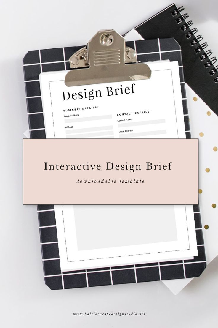 Interactive Design Brief Downloadable Template from Kaleidoscope Design Studio. Simply download it, fill it in and send it to your Graphic Designer with all the details of your project! You'll become their favourite client!