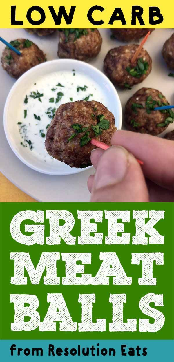 This recipe for Low Carb Keto Greek Meatballs with Tzatziki Sauce makes for the