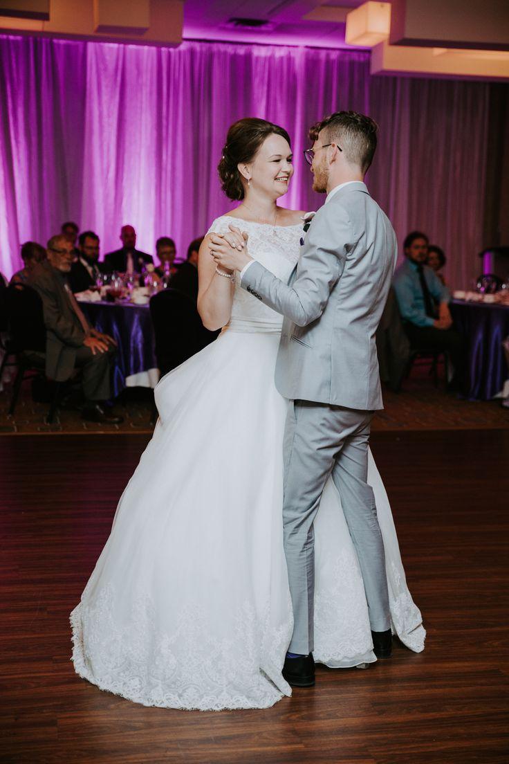 First dance. Purple wedding
