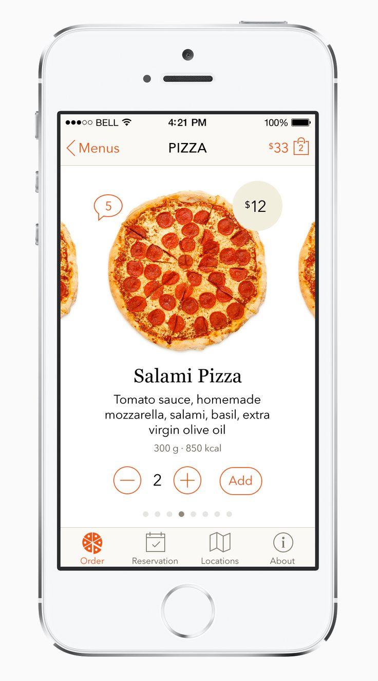 Order full view. Pizza doesn't need to be overly designed. Designers learning to get the hell out of the way. YES!