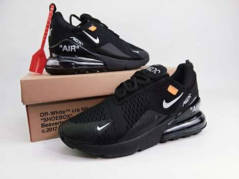 hot sale online d0932 7b02c Off White x Nike Air Max 270 Mesh Black -  71.50   Check our online shop,  and then you will get Nike shoes or adidas at satisfying prices.   Scoop.it
