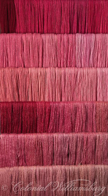 Studio photography of various colors of yarn dyed at the Weaver's shop. Shot for book by Max Hamerick on dyeing textiles; Red dyed with Cochineal ONLY Photo by Barbara Temple Lombardi